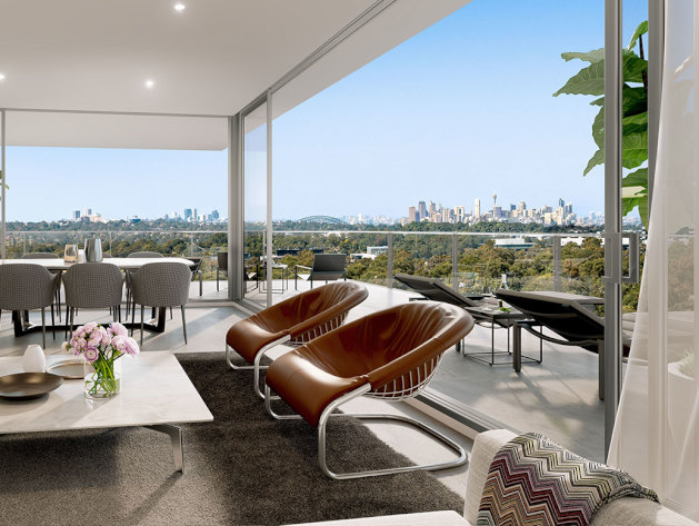 Prime at Macquarie Park living area